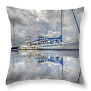 The Outer Pier Throw Pillow