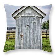 The Outhouse - 2 Throw Pillow