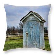 The Outhouse - 4 Throw Pillow