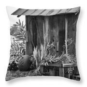 The Outhouse Bw Throw Pillow