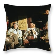 The Over The Hill Gang  Johnny Cash Porch Old Tucson Arizona 1971 Throw Pillow