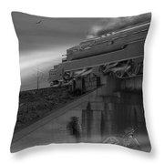 The Overpass 2 Panoramic Throw Pillow