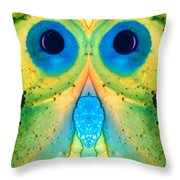 The Owl - Abstract Bird Art By Sharon Cummings Throw Pillow