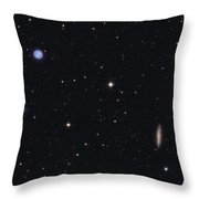 The Owl Nebula And Messier 108 Throw Pillow