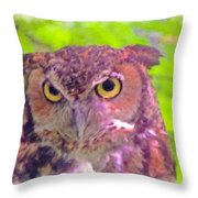 The Owl... Throw Pillow