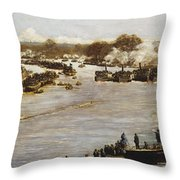 The Oxford And Cambridge Boat Race Throw Pillow