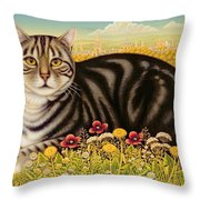 The Oxford Cat Throw Pillow