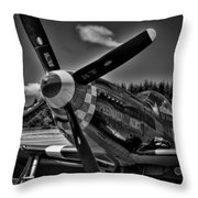 The P-51 Speedball Alice Mustang Throw Pillow by David Patterson