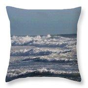 The Pacific Ocean Near Oceanside Ca Throw Pillow
