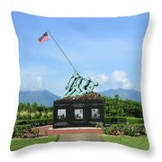 The Pacific War Memorial On Marine Throw Pillow