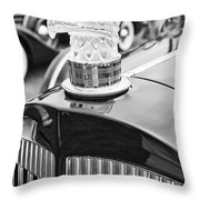 The Packard Eagle Hood Ornament At The Concours D Elegance. Throw Pillow