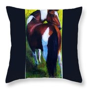 The Paint Throw Pillow