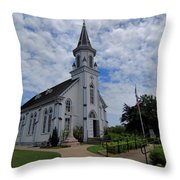 The Painted Churches Throw Pillow