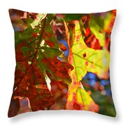 The Painted Season Throw Pillow