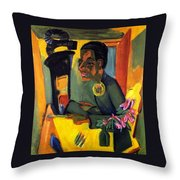 The Painter - Self Portrait Throw Pillow