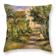 The Painters Garden, Cagnes, C.1908 Throw Pillow