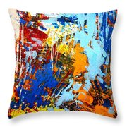The Painting Has A Life Of Its Own. I Try To Let It Come Through. Jackson Pollock   Throw Pillow