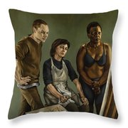 The Painting Throw Pillow