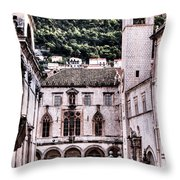 The Palace And The Tower Throw Pillow