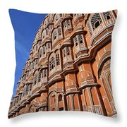 The Palace Of The Winds In Jaipur Throw Pillow