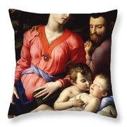 The Panciatichi Holy Family Throw Pillow