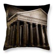 The Pantheon At Night Throw Pillow