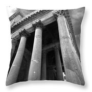 The Pantheon In Rome Bw Throw Pillow