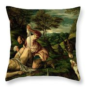 The Parable Of The Good Samaritan Throw Pillow