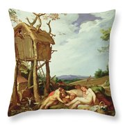 The Parable Of The Wheat And The Tares Throw Pillow