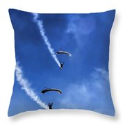 The Parachutists V5 Throw Pillow