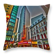 The Paramount Center And Opera House In Boston Throw Pillow