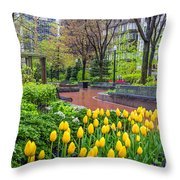 The Park At Post Office Square Throw Pillow
