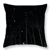 The Park In Winter Throw Pillow