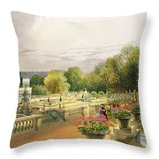 The Parterre Harewood House Near Leeds Throw Pillow