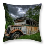 The Party Bus Throw Pillow