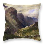 The Pass Of Glencoe, 1852 Throw Pillow by William Bennett