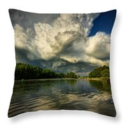 The Passing Storm Throw Pillow