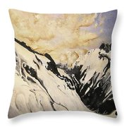 The Past Lingers Throw Pillow