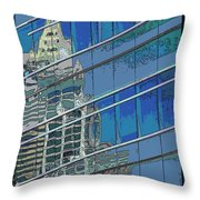 The Past Reflecting On The Present Throw Pillow