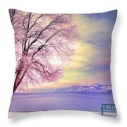 The Pastel Dreams Of Winter Throw Pillow