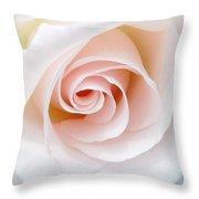 The Pastel Rose Throw Pillow