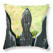 The Patchy Fence  Throw Pillow