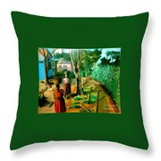 The Path Throw Pillow