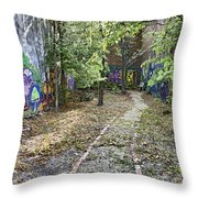 The Path Of Graffiti Throw Pillow