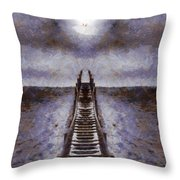 The Path To Heaven Throw Pillow by Dan Sproul