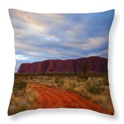 The Path To Red Throw Pillow