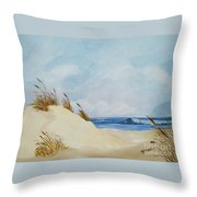 The Path To The Beach Throw Pillow