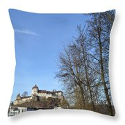 The Path To The Castle Throw Pillow