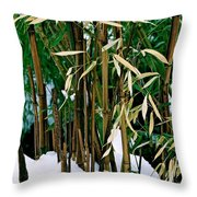 The Patience Of Bamboo Throw Pillow