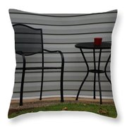 The Patio In Living Color Throw Pillow